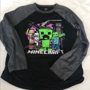 Gap Minecraft long sleeve tee. Size medium (8).